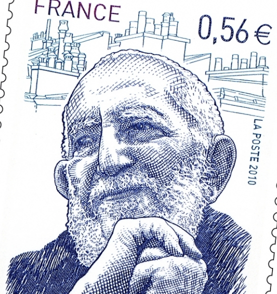 A tribute stamp representing the Abbé is issued