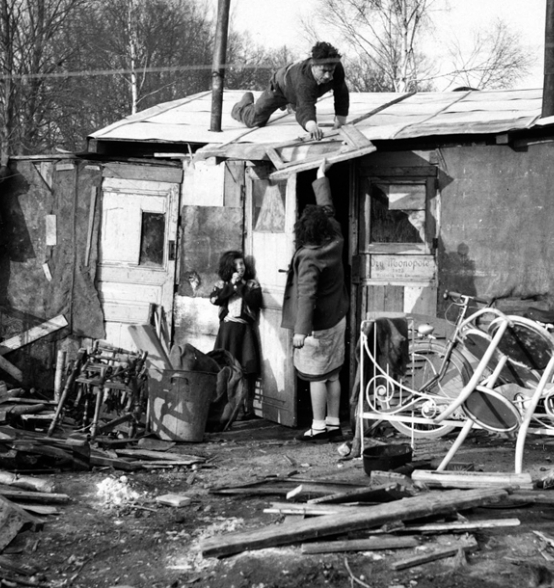 A shantytown in the 50's